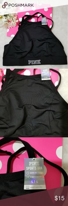 NWT PINK VS ULTIMATE SPORT BRA NWT! PINK VS Ultimate Sports Bra. Lined, no padding. Light support. Strappy back. Triple row hook and eye closure. Soft padded bottom band for extra comfort. PINK Intimates & Sleepwear Bras