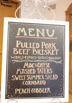 Cheap Self Catered Wedding Reception Menu Ideas