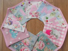 Handmade Personalised Girls Square Bunting with by BreifneCottage