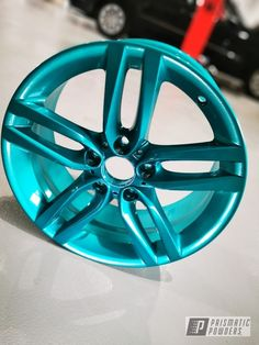This project was coated in Jamaican Teal. Prismatic Powders is a specialty powder coating manufacturer that provides the largest color selection in the world. Honda Accord Accessories, Car Accessories, Rims For Cars, Rims And Tires, Powder Coating Diy, Pink Rims, Teal Paint, Custom Wheels, Car Painting