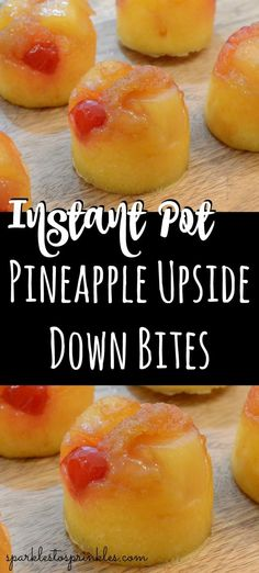 Craving Pineapple Upside Down Cake? Try my Instant Pot Pineapple Upside Down Bites, a new and tasty luscious dessert. These bite-size cakes will melt in your mouth. Pin for Later! pot recipes pressure cooking Instant Pot Pineapple Upside Down Bites Almond Joy, Instant Pot Pressure Cooker, Pressure Cooker Recipes, Pressure Cooking, Pots, Pineapple Upside Down Cake, Pineapple Cake, Cake Bites, Instant Pot Dinner Recipes