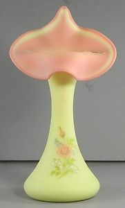 Fenton Hand Painted Burmese Glass Jack in the Pulpit Vase  http://www.ebay.com/itm/Fenton-Hand-Painted-Burmese-Glass-Jack-in-the-Pulpit-Vase-/330711124350?pt=LH_DefaultDomain_0=item4cffeb497e#ht_3609wt_754