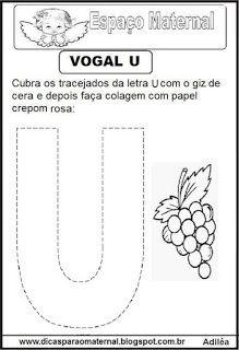 vogal U Preschool Art Projects, English Alphabet, Letter Activities, Lettering, Homeschooling, Alice, 1, Autumn, Learning Activities For Kids