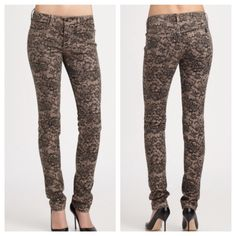 Joe's lace print skinny jeans Worn once! Perfect condition. Purchased at saks. Measurements and additional pics coming soon☺️ Joe's Jeans Jeans Skinny