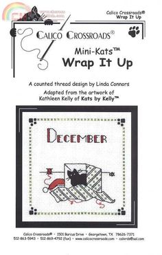 "Calico Crossroads Kats By Kelly - Mini Kats ""Wrap It Up"" - December 2008"