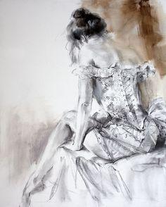 """""""French Laces 1"""" (Sepia) by Anna Razumovskaya"""