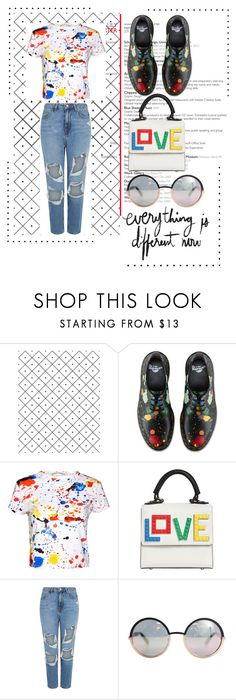 """""""Color of summer"""" by wolf-girl97 ❤ liked on Polyvore featuring Camp, Dr. Martens, Alice + Olivia, Les Petits Joueurs and Marc by Marc Jacobs"""