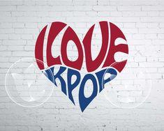 Excited to share the latest addition to my #etsy shop: Digital I love KPOP Word Art, I love KPOP jpg, png, eps, svg, dxf, Korea KPOP logo design, I love Kpop word in heart shape lettering design http://etsy.me/2F1ZKxQ #supplies #blue #kidscrafts #red #ilovekpopwordart