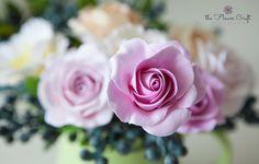 Krásný návod na velkou růži.  How to make a rose clay flower (for beginners)