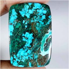 32.90cts. Brilliant TIBET TURQUOISE cushion CABOCHON Gemstones (jaipurgems2016). #Handmade