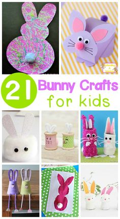 Adorable and Sweet Bunny Crafts for Kids Celebrate a love of bunnies and spring with these adorable bunny crafts for kids! Perfect bunny activities for the classroom or at home. Easter Arts And Crafts, Easter Activities For Kids, Spring Crafts For Kids, Easter Projects, Bunny Crafts, Art Projects, Easter Ideas, At Home Crafts For Kids, Classroom Crafts