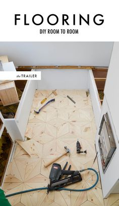 DIY geometric flooring