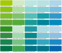 aquamarine color chip sample swatch palette on benjamin moore color chart visualizer id=36134