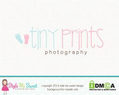 Premade Photography Logo Baby Feet Logo Baby Boutique Logo Design Hand Drawn Small Business Logo Design on Etsy, $44.94 CAD