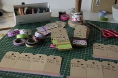 masking tape tags, for packing, decorating, gift tags or other
