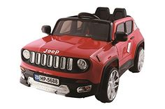 New 2015 Jeep Renegade Style 12v Kids Ride on Power Wheels Battery Remote Control Toy Car - Red