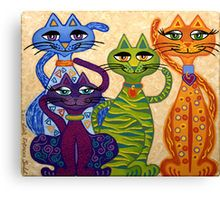 'High Street Cats' – are a new breed of cats, more posh than my original 'Cracked Cats'. They love to pose and preen. / 'High Street Cats' have been created for cat lovers everywhere. / This is an acrylic painting on stretched deep edged canvas by … Wal Art, Cat Quilt, Cat Crafts, Australian Art, Cat Colors, Cat Drawing, Whimsical Art, Crazy Cats, Cool Cats
