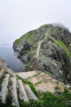 Аскольд - небольшой остров в виде подковы в Японском море, на котором проводились военные действия из-за его богатых месторождений золота, в последние десятилетия он был заброшен.