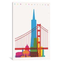 iCanvas San Francisco by Yoni Alter Canvas Print