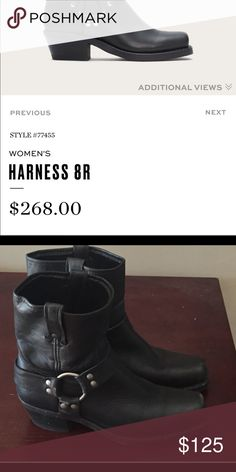 Frye harness boot size 9 Frye harness boot size 9 in GREAT condition Frye Shoes Ankle Boots & Booties