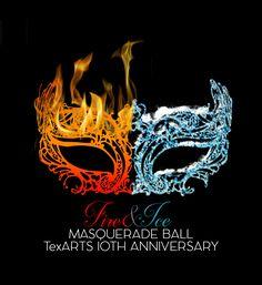 Fire and Ice Masquerade Ball Fundraiser Logo Elegant, Serious Logo Design by lei.villaruel