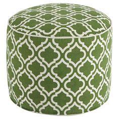 Signature Design by Ashley Geometric Round Pouf Green / White - A1000426