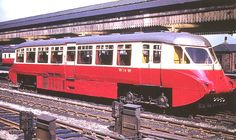 GWR Railcar W 14 W with a 70 seat capacity and powered by two 8 AEC bus engines is seen standing at Platform 8 with a local passenger service in April 1958