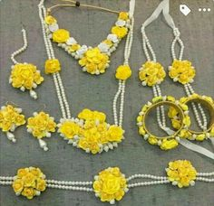 Flower jewelry set  Created by Kanchi