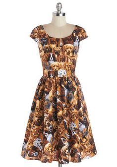 Hooked on a Canine Dress, #ModCloth bahahhahaa all puppies on the dresss ewwwww