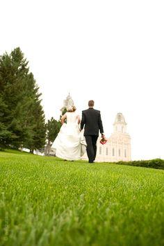 Summer Wedding { Manti Temple Utah }