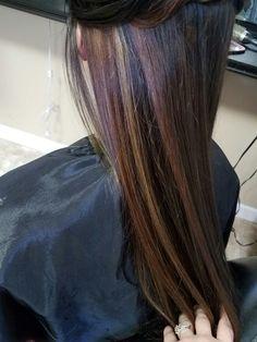 #hair #blackhair #highlights #under #redhair