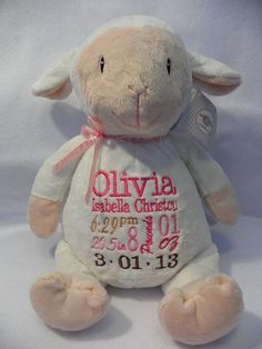 Little Lamb Cubbie by TLCreativeDesignsToo on Etsy, $29.95