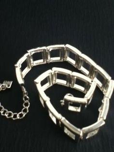 Silver Choker Necklace Sexy Geometric Nine West Women Teen Retro Vintage