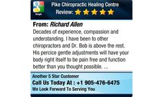 Decades of experience, compassion and understanding. I have been to other chiropractors...