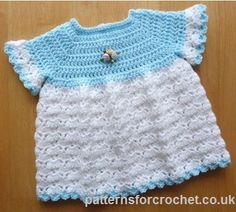 Libre patrón del ganchillo del bebé lindo vestido EE.UU.