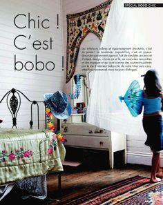 Bohemian design trends from Elle Decor France