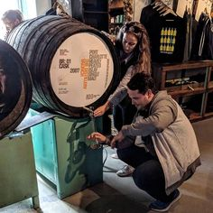 My son Mark getting help to squeeze the last drop from the cask. Whisky Tasting, The Last Drop, Scotland, Instagram