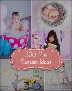 New Deal - Get 300 Out Of The Box Mini Session Ideas For Any Occasion Right At Your Fingertips! Download Today -