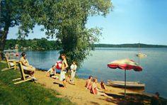 Beach at Ruttger's Bay Lake Lodge at Deerwood, Minnesota Postcard