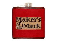 Maker's Mark Needlepoint Flask