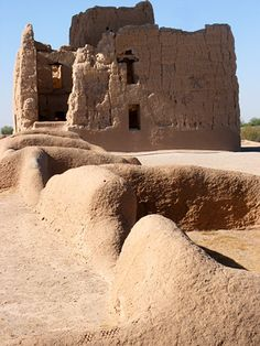 Casa Grande Ruins National Monument contains an imposing 4-storey building dating from the late Hohokam period, probably 14th century and contemporary