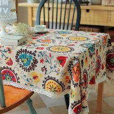 Modelos de explosão de algodão nacional vento Sol flor pano de mesa toalhas de mesa de linho toalha de mesa de alta qualidade hotsale Loja Online | aliexpress móvel