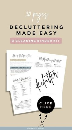 These declutter printables will help you organize your life and all areas of the home even the most scariest spaces. Sample printables inside binder kit includes 30 day challenges a tracker checklists worksheets weekly schedule building a capsule wardrobe Spring Cleaning Checklist, Car Cleaning Hacks, Holiday Checklist, Car Hacks, Wardrobe Organisation, Organization Hacks, Organize Your Life, Organizing Your Home, Organizing Tips