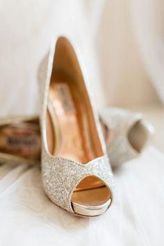 metallic glitter heels | Annamarie Akins #wedding