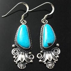 One of a Kind Turquoise Earrings by Derrick Gordon
