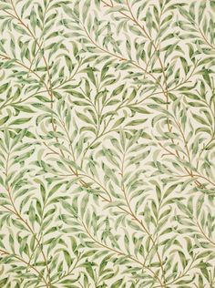 probably my fave WM pattern ever: Willow Bough wallpaper, by William Morris Hand-printed. William Morris Wallpaper, Morris Wallpapers, William Morris Tapet, Motif Vintage, Vintage Patterns, Plant Wallpaper, Wallpaper Backgrounds, Hallway Wallpaper, Trendy Wallpaper