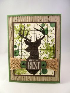 A Deer in the sights of your binoculars, camera or rifle for the hunters out there. This card is amazing with a multitude of layers and