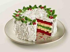 Ideas Fruit Desserts Christmas Baking For 2019 Christmas Cake Designs, Christmas Cake Decorations, Christmas Sweets, Holiday Cakes, Christmas Cooking, Christmas Desserts, Christmas Cakes, Cake Cookies, Cupcake Cakes