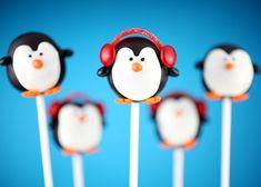 Boy Penguin Party Ideas - Penguin cake pops!