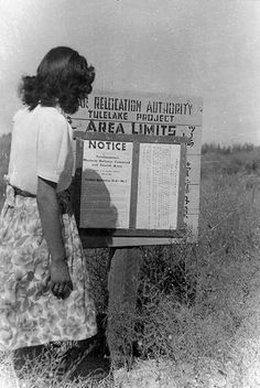 Japanese American..internment camp notice